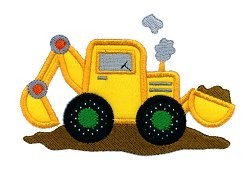 Backhoe Applique Design